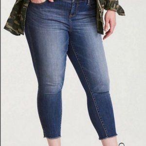 Torrid Vintage Plus Size Boyfriend Raw Hem Jeans